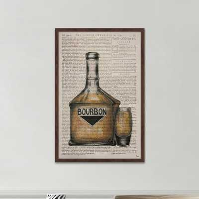 'Bourbon Poured' Framed Watercolor Painting Print - Wayfair