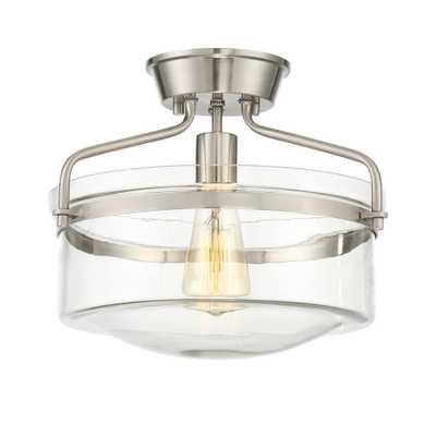 Filament Design 1-Light Polished Nickel Semi-Flushmount - Home Depot