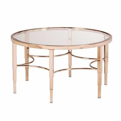 Bertha Metallic Gold Coffee Table, Metallic Gold Finish - Home Depot