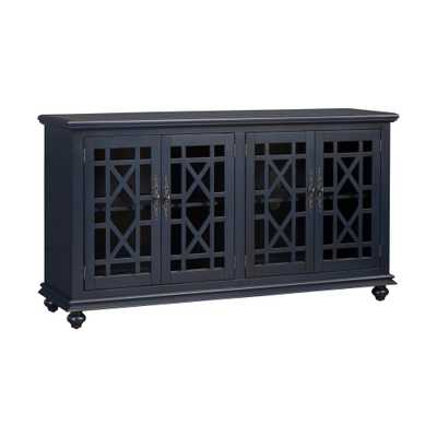 Martin Svensson Home Avalon Catalina Blue Home Entertainment Center - Home Depot