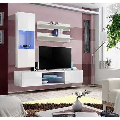 "Levasseur Wall Mounted Floating Entertainment Center for TVs up to 70"" - Wayfair"