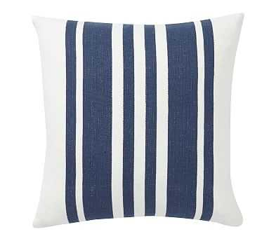 """Luxembourg Stripe Pillow Cover, 20"""", Blue - Pottery Barn"""