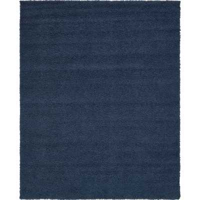 Solid Shag Navy Blue 8' x 10' Rug - Home Depot