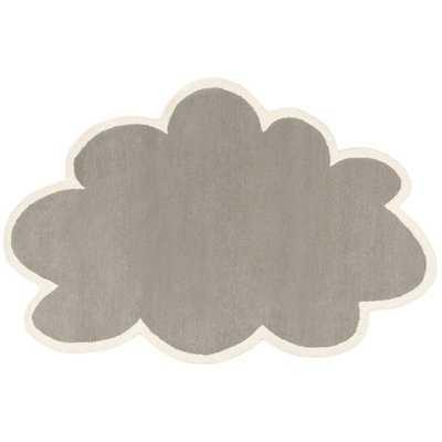 Walsall Cloud Hand-Tufted Wool Gray/Ivory Area Rug - Wayfair
