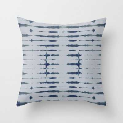"Shibori Lines Throw Pillow - Indoor Cover (16"" x 16"") with pillow insert by Beckybailey1 - Society6"