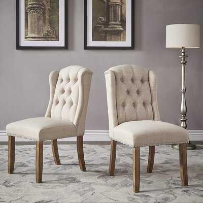 Deja Wing Back Upholstered Dining Chair - Wayfair