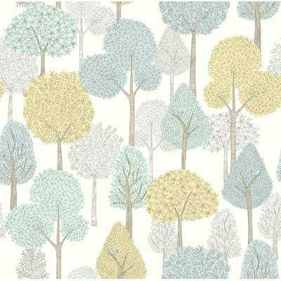 "Manuela Baby & Kids Treetops 33' x 20.5"" Wallpaper Roll - Birch Lane"