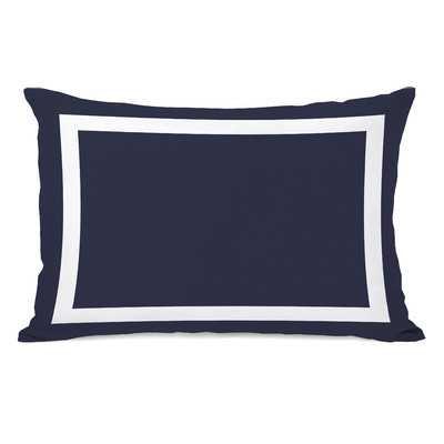 Alleyton Simple Lumbar Pillow, Navy - Wayfair