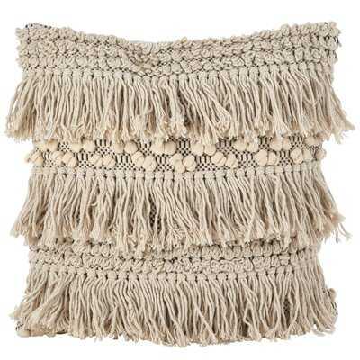 Clarkston Moroccan Wedding Blanket Fringe Cotton Throw Pillow - Wayfair