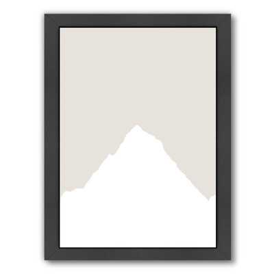 Beige White Mountain Gallery Framed Graphic Art - Wayfair