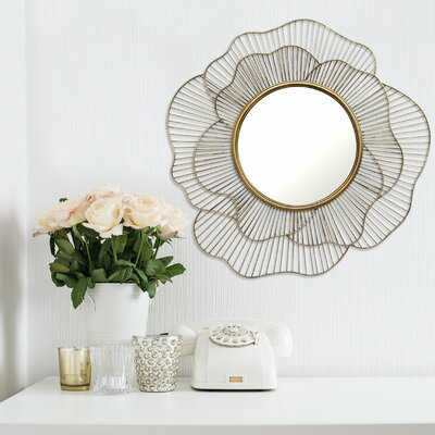 Nawrocki Flower Frameless Wall Mirror - Wayfair