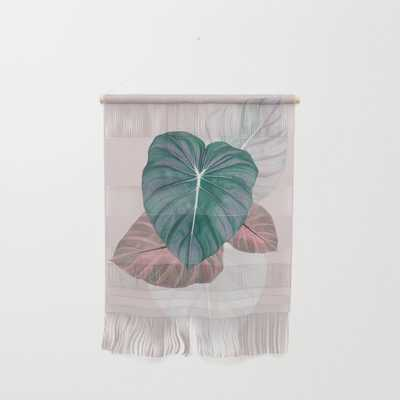 Pastel Leaves Wall Hanging by Printsproject - Society6