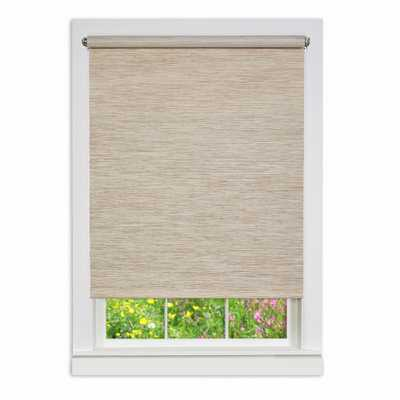 Achim Natural Cordless Fabric Privacy Roller Shade - 30 in. W x 72 in. L - Home Depot