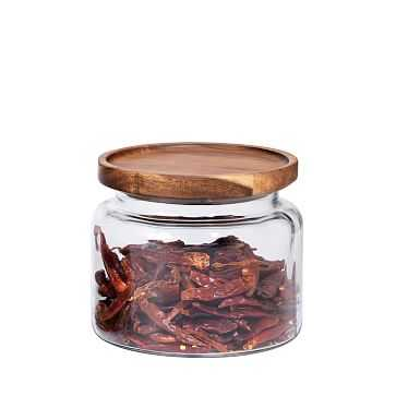 Glass Jar w/ Acacia Lids, 48 oz - West Elm