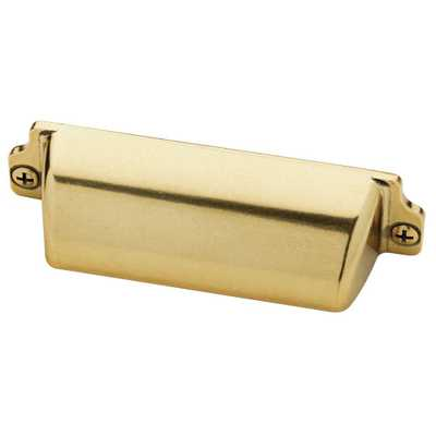 3 in. (76mm) Bedford Brass Awning Cup Pull - Home Depot