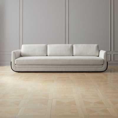 Remy White Wood Base Sofa - CB2