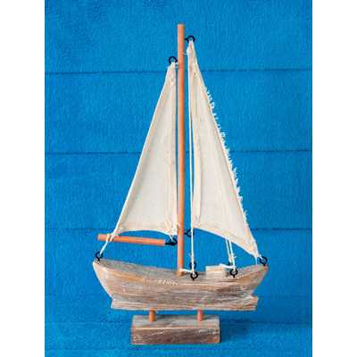 Alvy Handcrafted Nautical Wooden Sail Boat - Wayfair