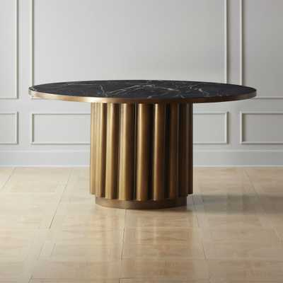 Cypher Black Marble Dining Table - CB2