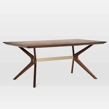 "Wright Dining Table, 72"", Dark Walnut - West Elm"