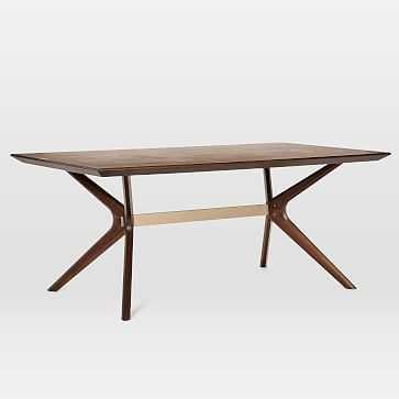 "Wright Dining Table, 72"", Dark Walnut - West Elm"