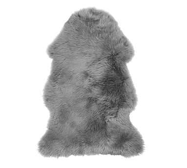Sheepskin Rugs, 2X3', Gray - Pottery Barn