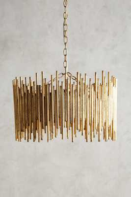 Gathered Glow Chandelier - Anthropologie