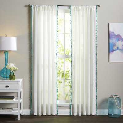 Brannon Solid Sheer Rod Pocket Single Curtain Panel - AllModern