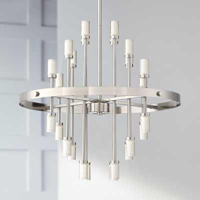 "Glenrose 26""W Brushed Nickel 24-Light LED Pendant Light - Style # 39K23 - Lamps Plus"