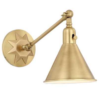 Crystorama Morgan 1-Light Aged Brass Sconce - Home Depot