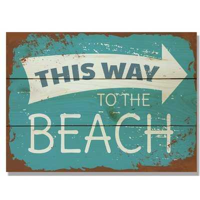 'This Way to the Beach' Textual Art on Wood - Wayfair