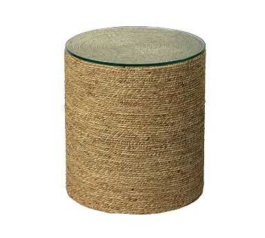 Dixon Seagrass Round End Table, Natural - Pottery Barn