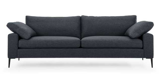 Nova Bard Gray Sofa, Black Legs - Article