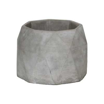 Gray Concrete Cement Decorative Vase, Grays - Home Depot
