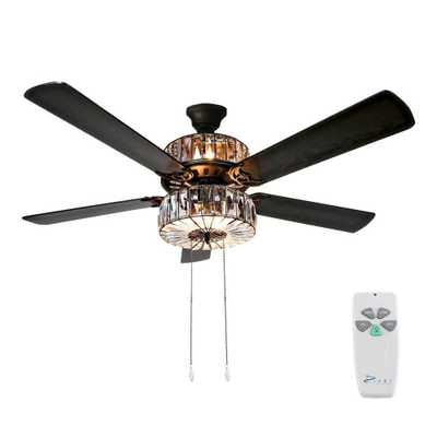 River of Goods 52 in. Clear Ceiling Fan - Home Depot