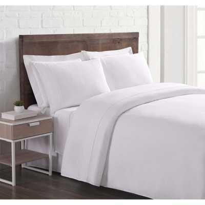 Nature Flax Linen White Queen Sheet Set Sheet Set - Home Depot