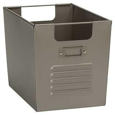 Locker Bin, Medium, Silver - Pottery Barn Teen