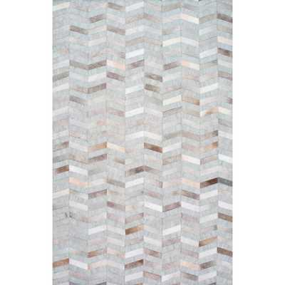 Cowhide Mitch Silver 9 ft. x 12 ft. Area Rug - Home Depot