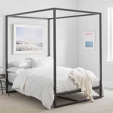 Park Canopy Bed, Queen, Black - Pottery Barn Teen