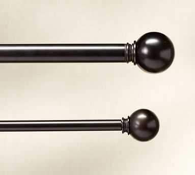 "PB Standard Ball Finial, Set of 2, 1.25"" diam., Antique Bronze Finish - Pottery Barn"