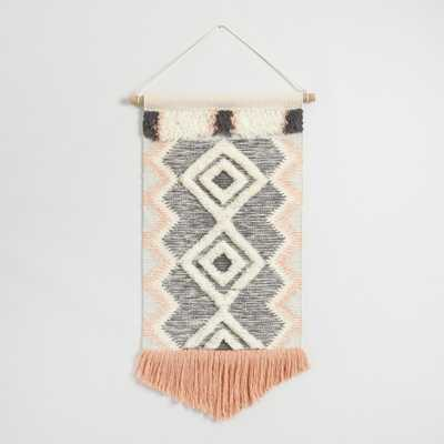 Coral and Gray Fringed Wall Hanging by World Market - World Market/Cost Plus