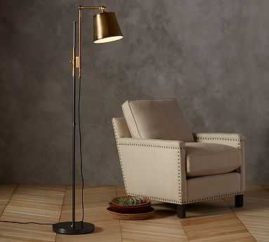 Knox Bronze & Brass Task Floor Lamp - Pottery Barn