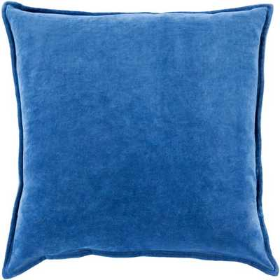 "Cotton Velvet - 20"" x 20""  Pillow Shell with Polyester Insert - Neva Home"