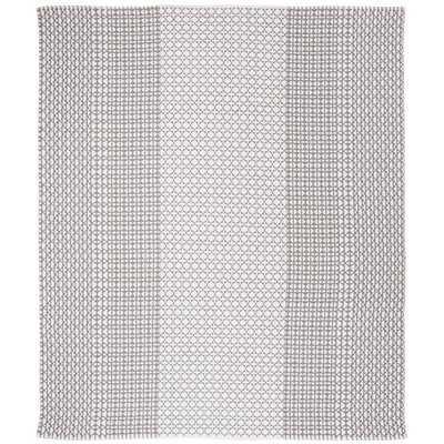 Zoltán Handwoven Flatweave Cotton Gray/Beige Area Rug - Wayfair