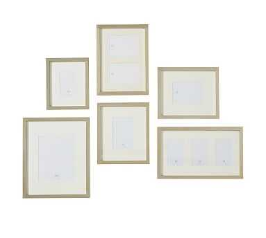 Champagne Gilt Photo Frame Gallery in a Box, Set of 6 - Pottery Barn