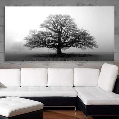 'Tree in the Mist' Photographic Print on Canvas - Wayfair
