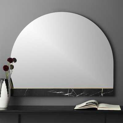 Vaughn Black Mantle Mirror with Marble Brass Inlay - CB2