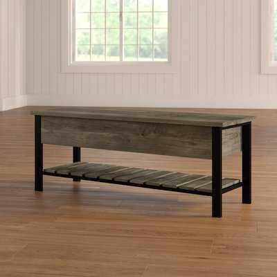 Ochlocknee Open-Top Wood Storage Bench - Wayfair