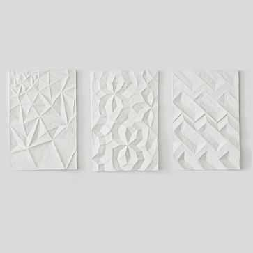 Paper Mache Geo Panel Wall Art, Assorted Set of 3 - West Elm