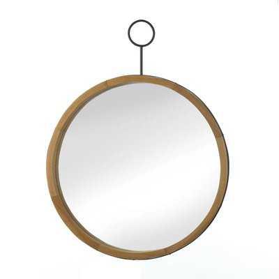 Eva Round Wood Accent Mirror - Wayfair