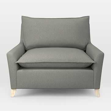 Bliss Chair and a Half, Performance Basketweave, Metal - West Elm